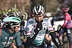 Marcus Burghardt (GER) and Peter Sagan (SVK) Bora-Hansgrohe at sign on before the start of the 112th edition of Milan-San Remo 2021, running 299km from Milan to San Remo, Italy. 20th March 2021. <br /> Photo: Bora-Hansgrohe/Luca Bettini/BettiniPhoto | Cyclefile<br /> <br /> All photos usage must carry mandatory copyright credit (© Cyclefile | Luca Bettini/BettiniPhoto/Bora-Hansgrohe)
