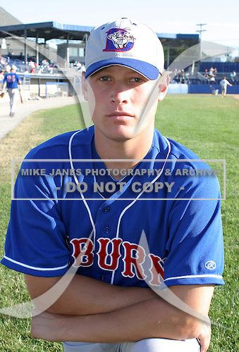 July 19, 2003:  Chad Mulholland of the Auburn Doubledays, Class-A affiliate of the Toronto Blue Jays, during a game at Dwyer Stadium in Batavia, NY.  Photo by:  Mike Janes/Four Seam Images