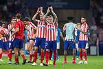 Kieran Trippier of Atletico de Madrid celebrating during the UEFA Champions League football match between Atletico de Madrid and Juventus FC played at the Wanda Metropolitano Stadium in Madrid, on September 18th 2019