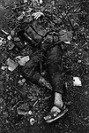 Body of a North Vietnamese soldier, Têt offensive, Battle of Hué, Vietnam, February 1968