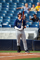 Herbert Iser (25) of Osceola High School in Miami, Florida playing for the Tampa Bay Rays scout team during the East Coast Pro Showcase on July 28, 2015 at George M. Steinbrenner Field in Tampa, Florida.  (Mike Janes/Four Seam Images)