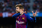 Gerard Pique Bernabeu of FC Barcelona reacts during the La Liga 2018-19 match between FC Barcelona and Real Betis at Camp Nou, on November 11 2018 in Barcelona, Spain. Photo by Vicens Gimenez / Power Sport Images