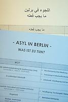 To-Do-Liste fuer gefluechtete Menschen in Berlin mit den wichtigsten Adressen in deutscher und arabischer Sprache.<br /> 27.11.2015, Berlin<br /> Copyright: Christian-Ditsch.de<br /> [Inhaltsveraendernde Manipulation des Fotos nur nach ausdruecklicher Genehmigung des Fotografen. Vereinbarungen ueber Abtretung von Persoenlichkeitsrechten/Model Release der abgebildeten Person/Personen liegen nicht vor. NO MODEL RELEASE! Nur fuer Redaktionelle Zwecke. Don't publish without copyright Christian-Ditsch.de, Veroeffentlichung nur mit Fotografennennung, sowie gegen Honorar, MwSt. und Beleg. Konto: I N G - D i B a, IBAN DE58500105175400192269, BIC INGDDEFFXXX, Kontakt: post@christian-ditsch.de<br /> Bei der Bearbeitung der Dateiinformationen darf die Urheberkennzeichnung in den EXIF- und  IPTC-Daten nicht entfernt werden, diese sind in digitalen Medien nach §95c UrhG rechtlich geschuetzt. Der Urhebervermerk wird gemaess §13 UrhG verlangt.]