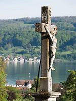 Friedhof in Gaienhofen Horn, Höri, Baden-Württemberg, Deutschland, Europa<br /> Cemetery in Gaienhofen Horn, Höri, Baden-Württemberg, Germany, Europe