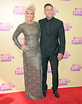 Pink and Carey Hart at The 2012 MTV Video Music Awards held at Staples Center in Los Angeles, California on September 06,2012                                                                   Copyright 2012  DVS / Hollywood Press Agency