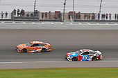 #19: Daniel Suarez, Joe Gibbs Racing, Toyota Camry ARRIS, #18: Kyle Busch, Joe Gibbs Racing, Toyota Camry M&M's Red White & Blue