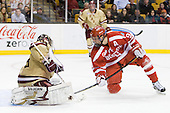 Parker Milner (BC - 35), Alex Chiasson (BU - 9) (Dumoulin) - The Boston College Eagles defeated the Boston University Terriers 3-2 (OT) to win the 2012 Beanpot championship on Monday, February 13, 2012, at TD Garden in Boston, Massachusetts.