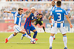 Neymar JR of FC Barcelona fights for the ball with Unai Lopez of Deportivo Leganes during their La Liga match between Deportivo Leganes and FC Barcelona at the Butarque Municipal Stadium on 17 September 2016 in Madrid, Spain. Photo by Diego Gonzalez Souto / Power Sport Images