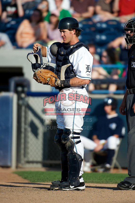 West Michigan Whitecaps Zach Maggard #27 during a game against the Bowling Green Hot Rods at Fifth Third Ballpark on June 26, 2012 in Comstock Park, Michigan.  West Michigan defeated Bowling Green 13-11.  (Mike Janes/Four Seam Images)
