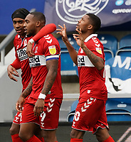 Middlesbrough's Chuba Akpom celebrates scoring his side's first goal <br /> <br /> Photographer Stephanie Meek/CameraSport<br /> <br /> The EFL Sky Bet Championship - Queens Park Rangers v Middlesbrough - Saturday 26th September 2020 - Loftus Road - London <br /> <br /> World Copyright © 2020 CameraSport. All rights reserved. 43 Linden Ave. Countesthorpe. Leicester. England. LE8 5PG - Tel: +44 (0) 116 277 4147 - admin@camerasport.com - www.camerasport.com