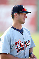 Connecticut Tigers outfielder Matt Mansilla (7) during a game vs. the Batavia Muckdogs at Dwyer Stadium in Batavia, New York July 8, 2010.   Connecticut defeated Batavia 4-2 in extra innings.  Photo By Mike Janes/Four Seam Images