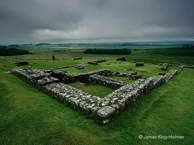 North Gate of the Roman fort at Housesteads, Northumberland, part of Hadrian's Wall.