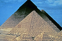 A pyramid is a structure whose outer surfaces are triangular and converge to a single point at the top, making the shape roughly a pyramid in the geometric sense. The base of a pyramid can be trilateral, quadrilateral, or any polygon shape. (Wikipedia)
