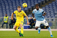 Lazio s Felipe Caicedo, right, is challenged by Hellas Verona s Pawel Marek Dawidowicz during the Serie A soccer match between Lazio and Hellas Verona at Rome's Olympic Stadium, December 12, 2020.<br /> UPDATE IMAGES PRESS/Riccardo De Luca