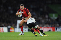 Sam Burgess of England is tackled by Gabiriele Lovobalavu of Fiji during Match 1 of the Rugby World Cup 2015 between England and Fiji - 18/09/2015 - Twickenham Stadium, London <br /> Mandatory Credit: Rob Munro/Stewart Communications