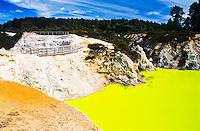 Devil's Bath in Wai-O-Tapu Thermal Reserve - Rotorua, New Zealand