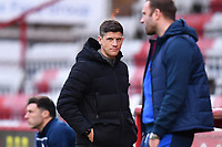 Stevenage F.C. Manager Alex Revell during Stevenage vs Bolton Wanderers, Sky Bet EFL League 2 Football at the Lamex Stadium on 21st November 2020