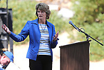 U.S. Sen. Lisa Murkowski, R-Alaska, speaks at the 22nd annual Lake Tahoe Summit, at Sand Harbor State Park, near Incline Village, Nev., on Tuesday, Aug. 7, 2018.<br /> Photo by Cathleen Allison/Nevada Momentum