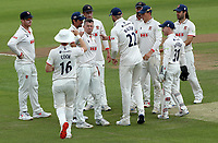 Peter Siddle of Essex celebrates taking the wicket of Ben Compton<br />  during Essex CCC vs Nottinghamshire CCC, LV Insurance County Championship Group 1 Cricket at The Cloudfm County Ground on 6th June 2021