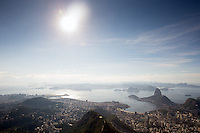 A general view of Rio de Janeiro and Sugarloaf Mountain from the Christ the Redeemer statue