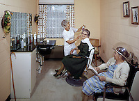 Senior women at beauty salon