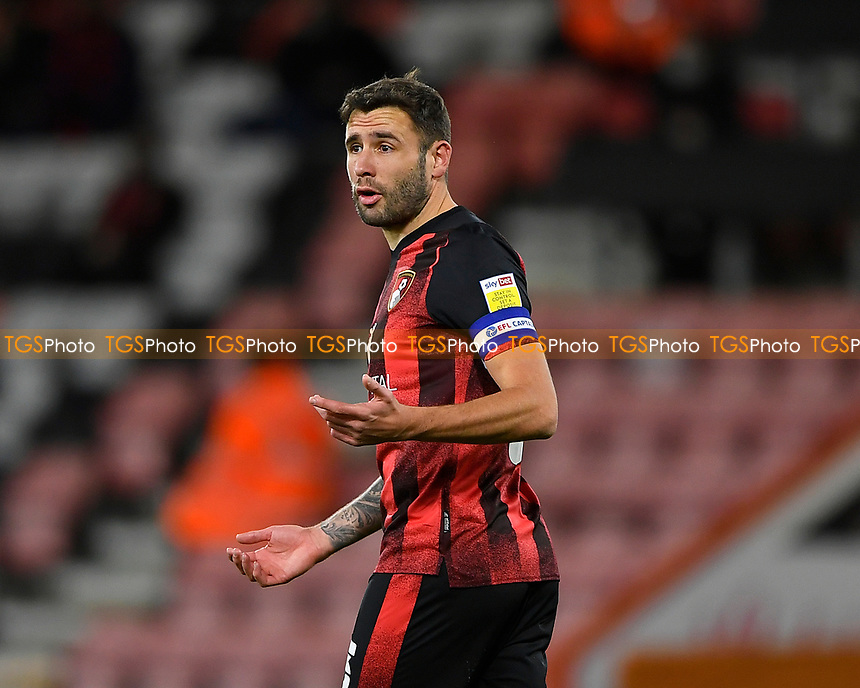 Steve Cook of AFC Bournemouth during AFC Bournemouth vs Wycombe Wanderers, Sky Bet EFL Championship Football at the Vitality Stadium on 15th December 2020