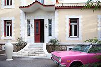 facade of neoclassical house