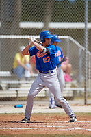 New York Mets Colby Woodmansee (27) bats during a minor league Spring Training game against the Miami Marlins on March 26, 2017 at the Roger Dean Stadium Complex in Jupiter, Florida.  (Mike Janes/Four Seam Images)