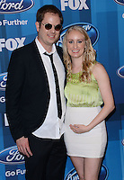 Scott MacIntyre + wife Christina @ the American Idol Farewell Season finale held @ the Dolby Theatre.<br /> April 7, 2016