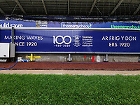 Swansea Uni advertisement board during the Sky Bet Championship match between Swansea City and Bristol City at the Liberty Stadium in Swansea, Wales, UK. Saturday 18 July 2020