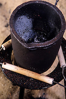 THERMITE PROCESS: REDUCTION OF Fe2O BY ALUMINUM<br /> Iron Oxide & Aluminum In A Crucible<br /> Produces small quantities of molten iron for special purposes like the repair of railway lines. Aluminum is reactive enough to reduce less reactive metal oxides to the metal. Strongly exothermic reaction started by adding glycerine to the mix w/KMNO4.