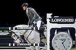 Henrik von Eckermann on Solitaer 41 competes during the Airbus Trophy at the Longines Masters of Hong Kong on 20 February 2016 at the Asia World Expo in Hong Kong, China. Photo by Victor Fraile / Power Sport Images