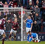 26.01.2020 Hearts v Rangers: Liam Boyce celebrates