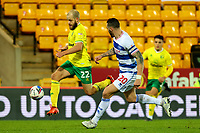 29th December 2020; Carrow Road, Norwich, Norfolk, England, English Football League Championship Football, Norwich versus Queens Park Rangers; Teemu Pukki of Norwich City takes on Geoff Cameron of Queens Park Rangers