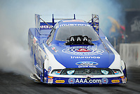 Sept. 16, 2011; Concord, NC, USA: NHRA funny car driver Robert Hight during qualifying for the O'Reilly Auto Parts Nationals at zMax Dragway. Mandatory Credit: Mark J. Rebilas-US PRESSWIRE