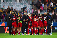 Gothenburg, Sweden - Thursday June 08, 2017: United States huddle after an international friendly match between the women's national teams of Sweden (SWE) and the United States (USA) at Gamla Ullevi Stadium.