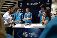 Volunteers in the Media sector<br /> Udine 17-06-2019 Stadio Friuli <br /> Football UEFA Under 21 Championship Italy 2019<br /> Group Stage - Final Tournament Group B<br /> Germany - Denmark<br /> Photo Cesare Purini / Insidefoto