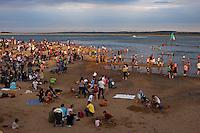 Wells Next The Sea, Norfolk, England, 05/08/2009..Party on Wells beach.