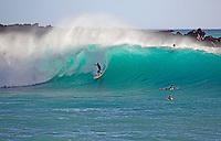 Turquiose waves at Makena, Maui, Hawaii.