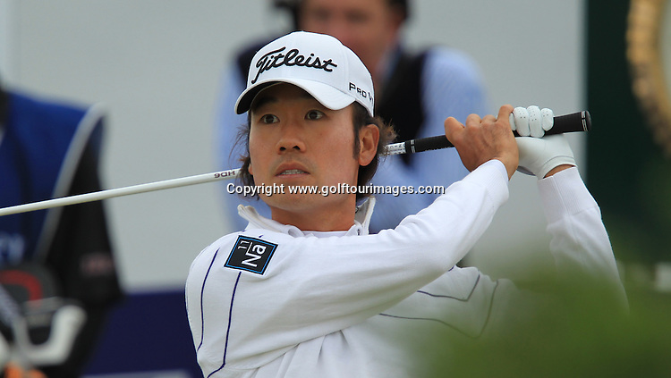 Kevin Na during the second round of the 2012 Aberdeen Asset Management Scottish Open being played over the links at Castle Stuart, Inverness, Scotland from 12th to 14th July 2012:  Stuart Adams www.golftourimages.com:13th July 2012