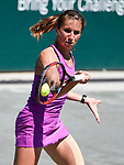 April 6,2017:   Annika Beck (GER) loses to Caroline Wozniacki (DEN) 7-5, 6-1, at the Volvo Car Open being played at Family Circle Tennis Center in Charleston, South Carolina.  ©Leslie Billman/Tennisclix/Cal Sport Media