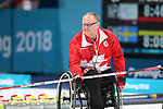 Pyeongchang, Korea, 15/3/2018-Dennis Thiessen compete in the  wheelchair curling during the 2018 Paralympic Games in PyeongChang.  Photo Scott Grant/Canadian Paralympic Committee.