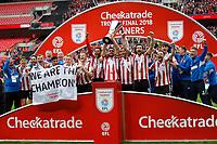 Lincoln City v Shrewsbury Town - Checkatrade Trophy FINAL - 08.04.2018