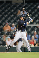 Tampa Yankees first baseman Matt Snyder (29) at bat during a game against the Fort Myers Miracle on April 15, 2015 at Hammond Stadium in Fort Myers, Florida.  Tampa defeated Fort Myers 3-1 in eleven innings.  (Mike Janes/Four Seam Images)