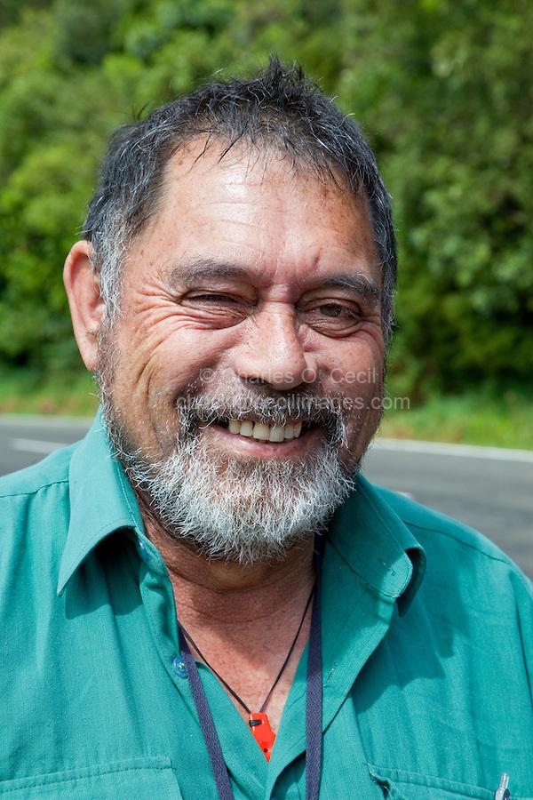 A Maori from Te Araroa, near Tikitiki, East Cape, north island, New Zealand.