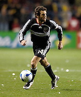 D.C. United midfielder Ben Olsen (14). The Chicago Fire defeated D. C. United 1-0 during the first leg of the MLS Eastern Conference Semifinal Series at Toyota Park in Bridgeview, IL, on October 25, 2007.