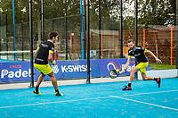Netherlands, September 5,  2020, Amsterdam, Padel Dam, NK Padel, National Padel Championships,  Men's doubles Sten Richters (NED) and Robin Sietsma (NED)<br /> Photo: Henk Koster/tennisimages.com