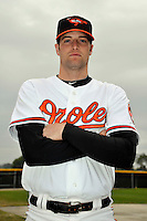 Feb 27, 2010; Tampa, FL, USA; Baltimore Orioles  pitcher Mike Hinckley (73) during  photoday at Ed Smith Stadium. Mandatory Credit: Tomasso De Rosa/ Four Seam Images