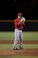 AZL Angels relief pitcher Cody Eckerson (56) prepares to deliver a pitch during an Arizona League game against the AZL Giants Black at the San Francisco Giants Training Complex on July 1, 2018 in Scottsdale, Arizona. The AZL Giants Black defeated the AZL Angels by a score of 4-2. (Zachary Lucy/Four Seam Images)