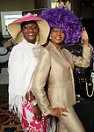 Cheryl Monroe and Michele Owens at the Brentwood Scholarship Luncheon and Macy's Fashion Show at the Hilton Americas Hotel Sunday June 3,2012. (Dave Rossman/For the Chronicle)